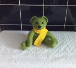 Teddy+with+Scarf+-+green+and+yellow
